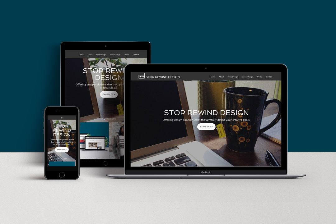 Stop Rewind Design Website Example
