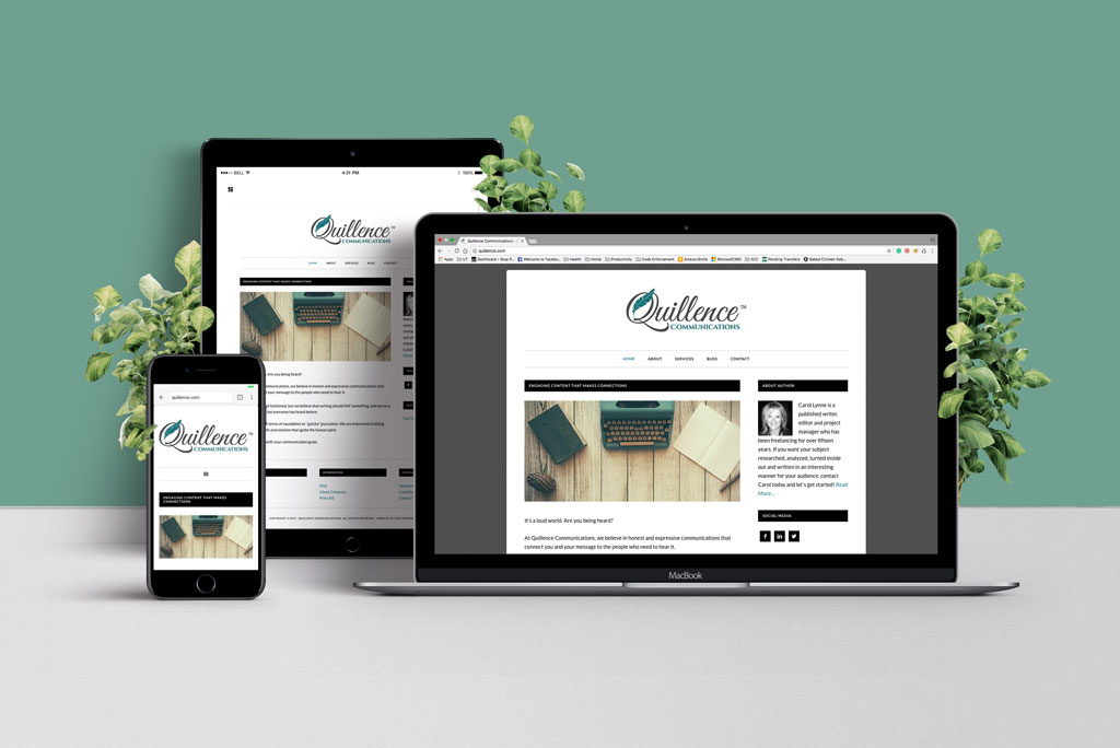 Quillence Communications Website Example